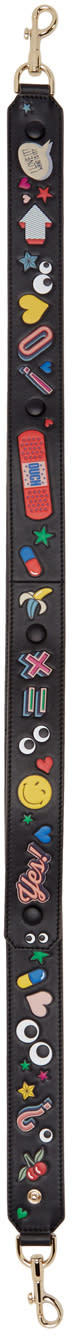 Anya Hindmarch Black Wink Stickers Shoulder Strap