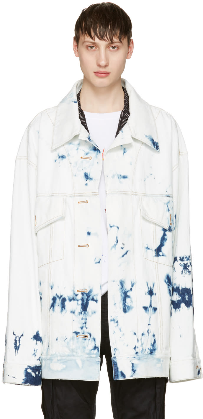 Faith Connexion Indigo Oversized Tie-dye Denim Jacket