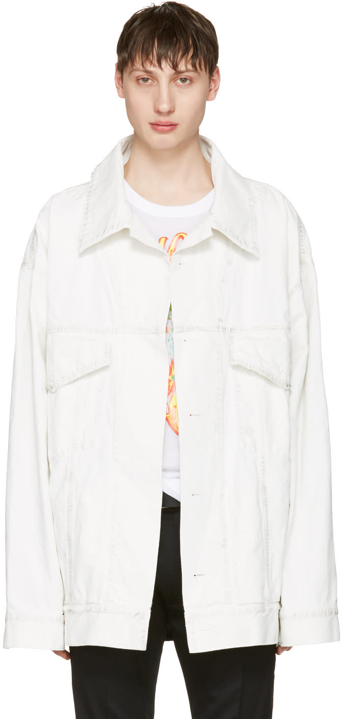 Faith Connexion White Oversized Denim Jacket