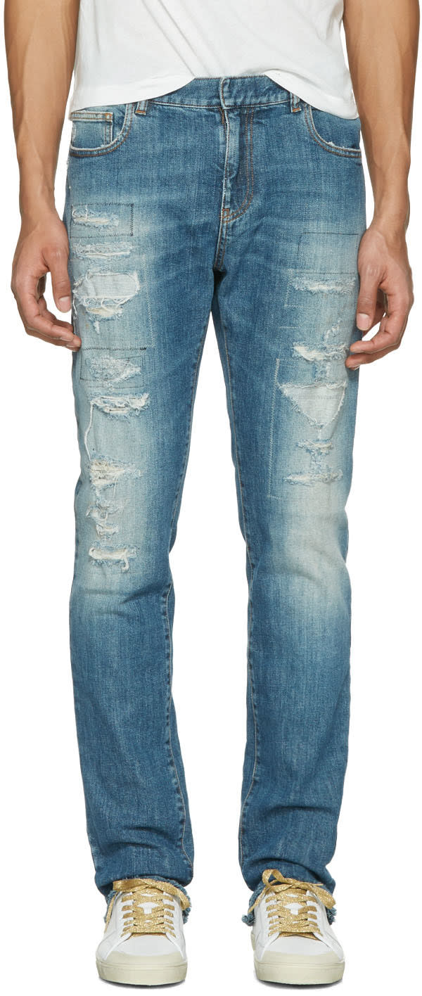 Faith Connexion Indigo Distressed New Slim Jeans