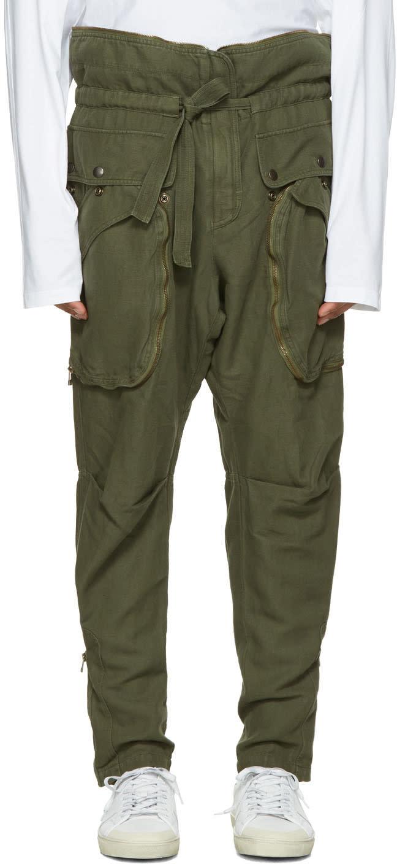 Faith Connexion Green Zip Cargo Trousers