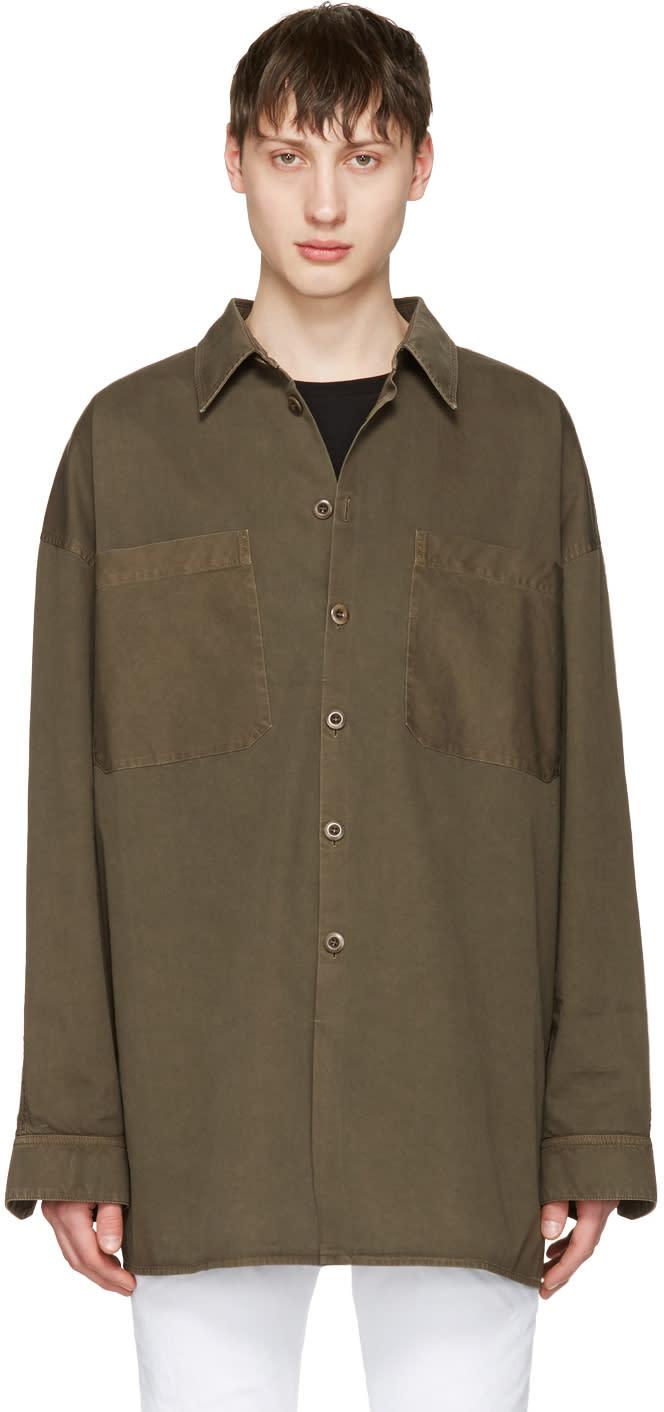 Faith Connexion Khaki Cotton Shirt