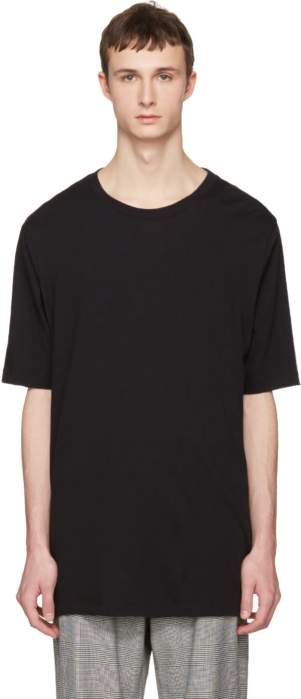 Image of Faith Connexion Black Oversized Distressed T-shirt