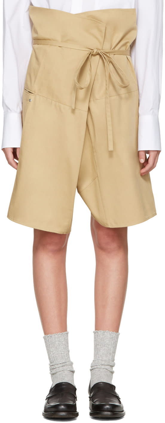 Image of Bless Beige Wrap Shorts