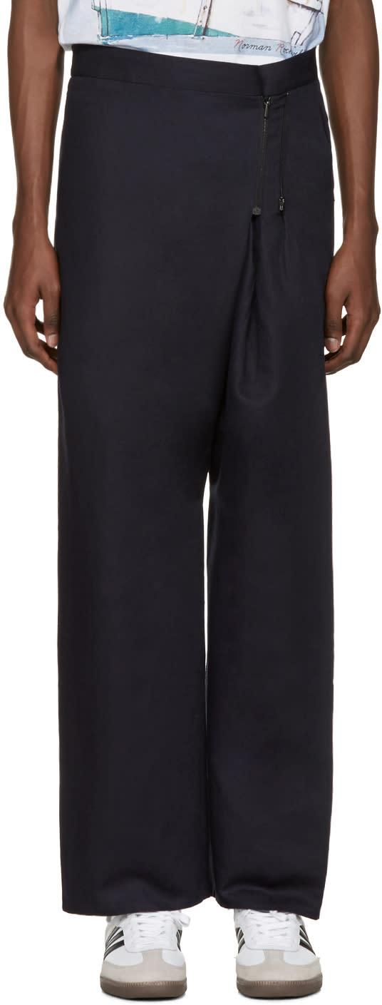 Bless Navy Zipper Trousers