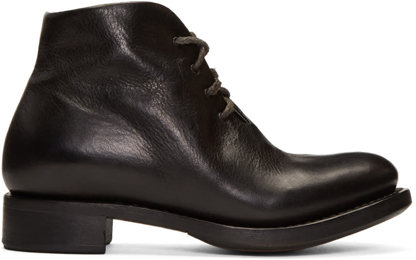 Image of Cherevichkiotvichki Black One-piece Goodyear Boots
