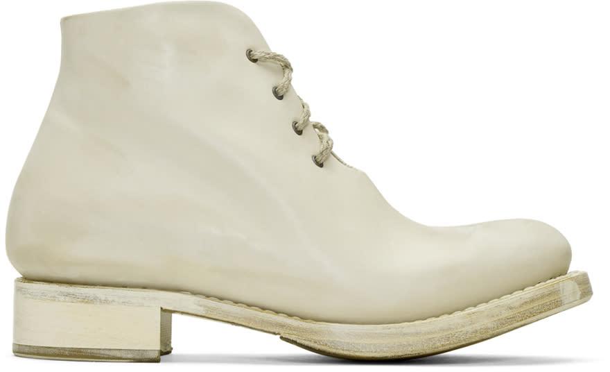 Cherevichkiotvichki Off-white One-piece Goodyear Boots