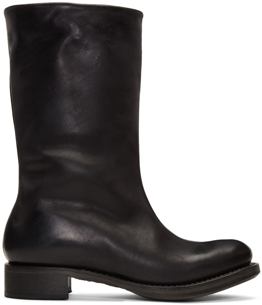 Image of Cherevichkiotvichki Black Goodyear Country Boots