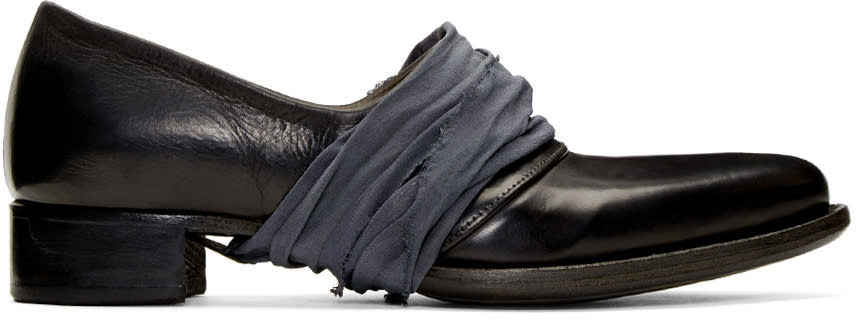 Image of Cherevichkiotvichki Black Two-piece Low Loafers