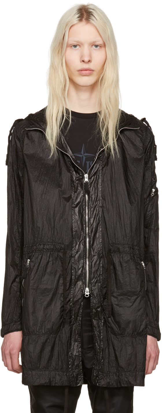 Stone Island Shadow Project Black Zip Pockets Coat