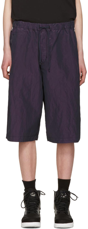 Stone Island Shadow Project Purple Iridescent Bermuda Shorts