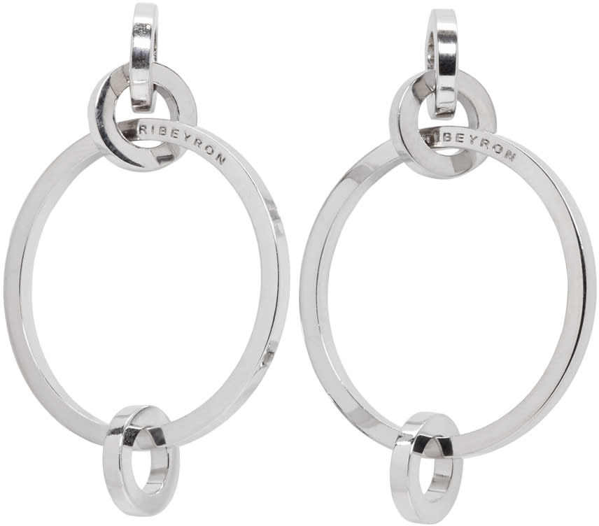 Ribeyron Silver 4 Circle Earrings