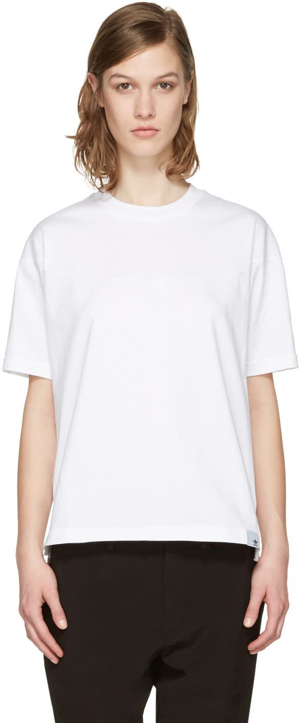 Adidas Originals Xbyo White Panelled T-shirt