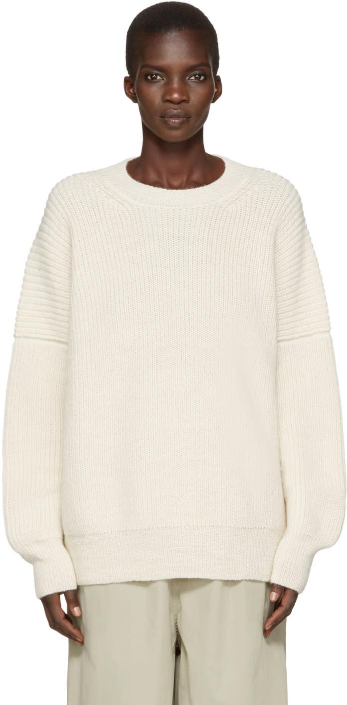 Lauren Manoogian Off-white Alpaca Fisherman Sweater