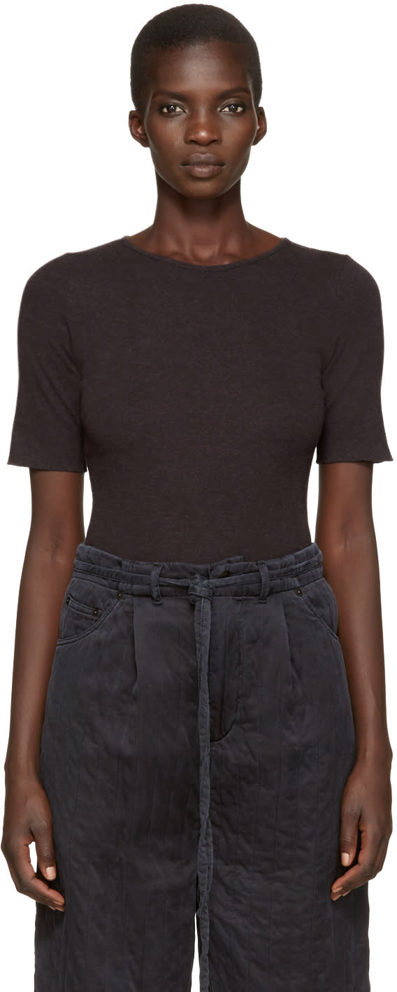 Lauren Manoogian Grey Cotton and Cashmere T-shirt