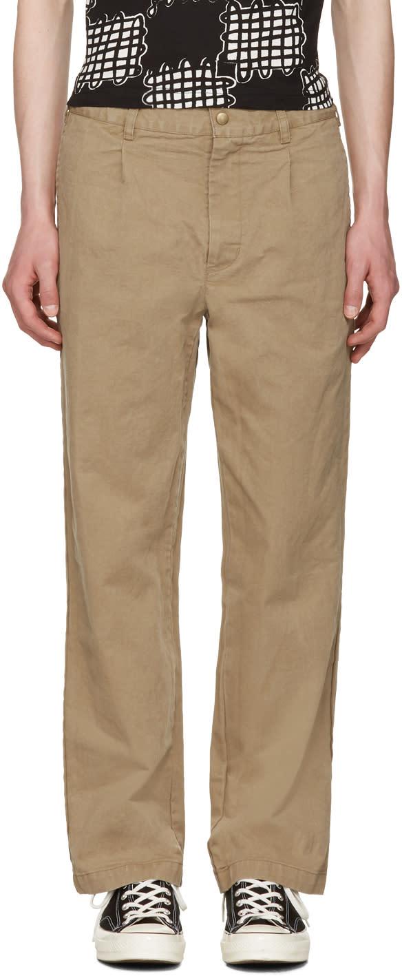 Noah Nyc Khaki Chino Trousers