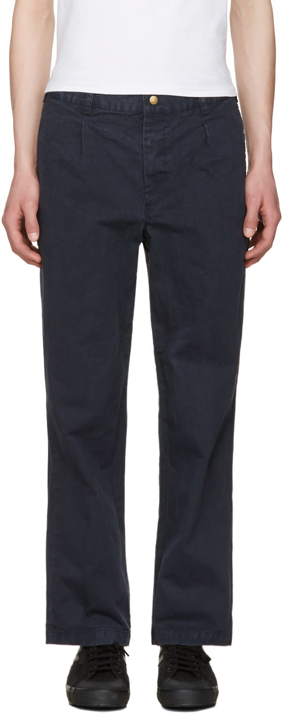 Noah Nyc Navy Chino Trousers