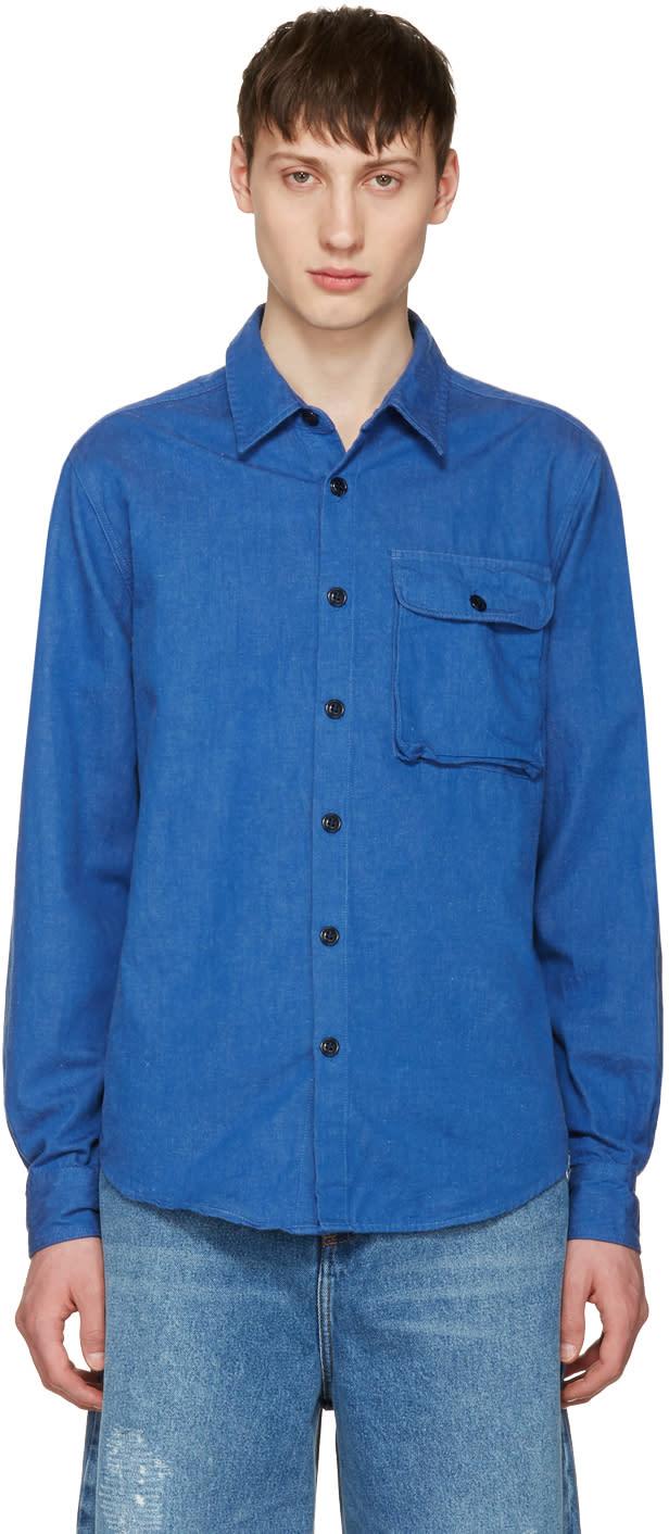 Noah Nyc Blue Denim Utility Shirt