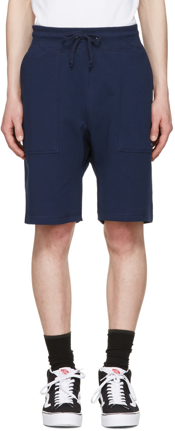 Noah Nyc Navy Solid Lounge Shorts