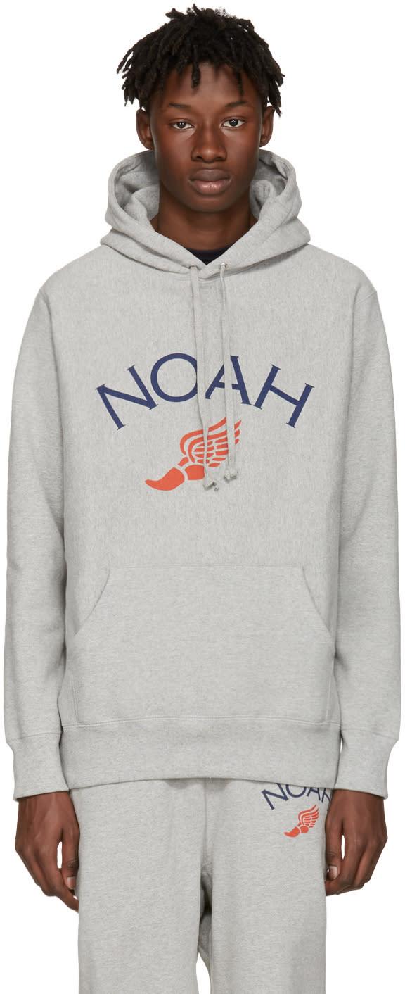 Noah Nyc Grey Jolly Wingfoot Hoodie