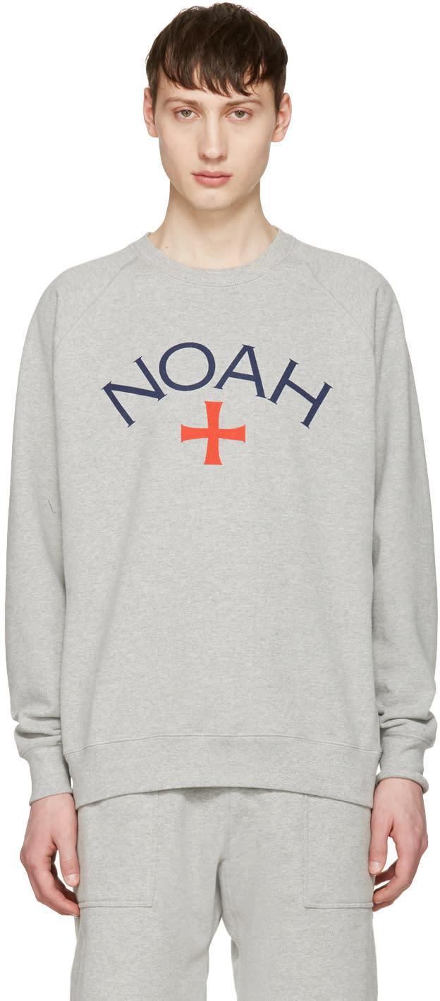 Noah Nyc Grey Logo Pullover