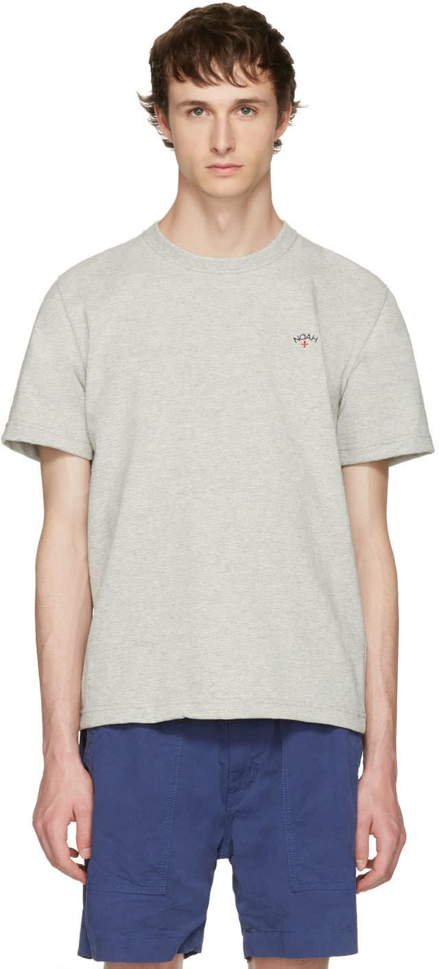 Noah Nyc Grey Running Club T-shirt