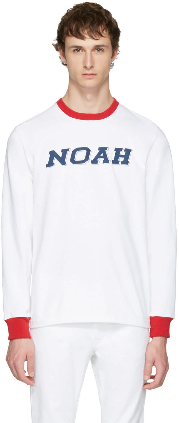 Noah Nyc Grey Training Ringer T-shirt