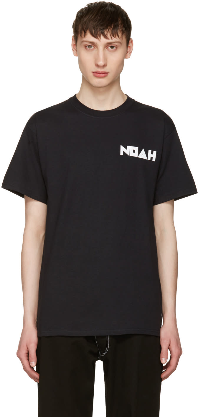 Image of Noah Nyc Black Jody Logo T-shirt
