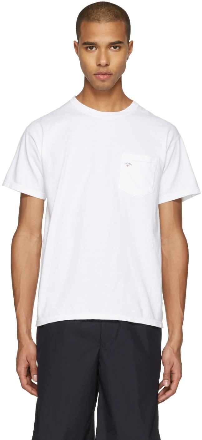 Noah Nyc White Pocket Logo T-shirt