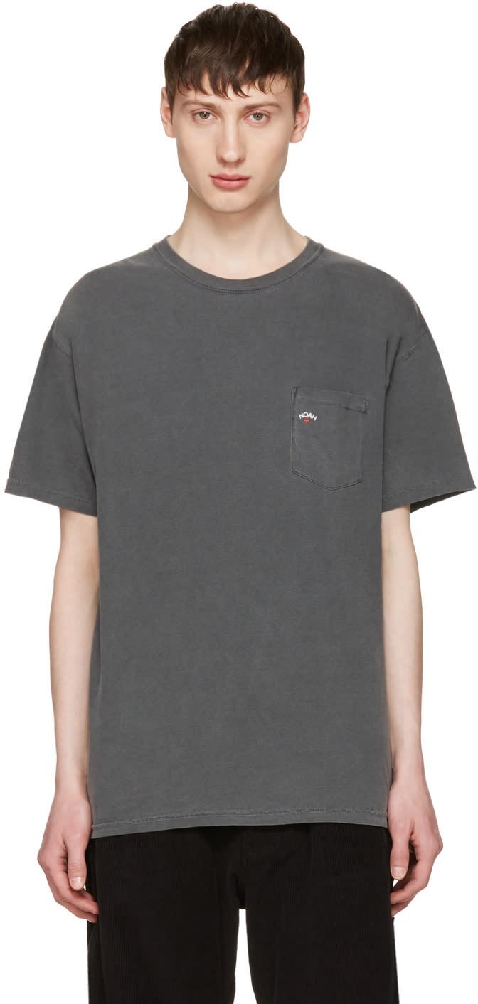 Noah Nyc Grey Pocket Logo T-shirt