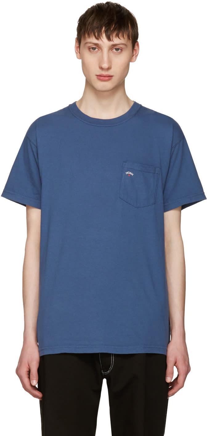 Noah Nyc Navy Pocket Logo T-shirt