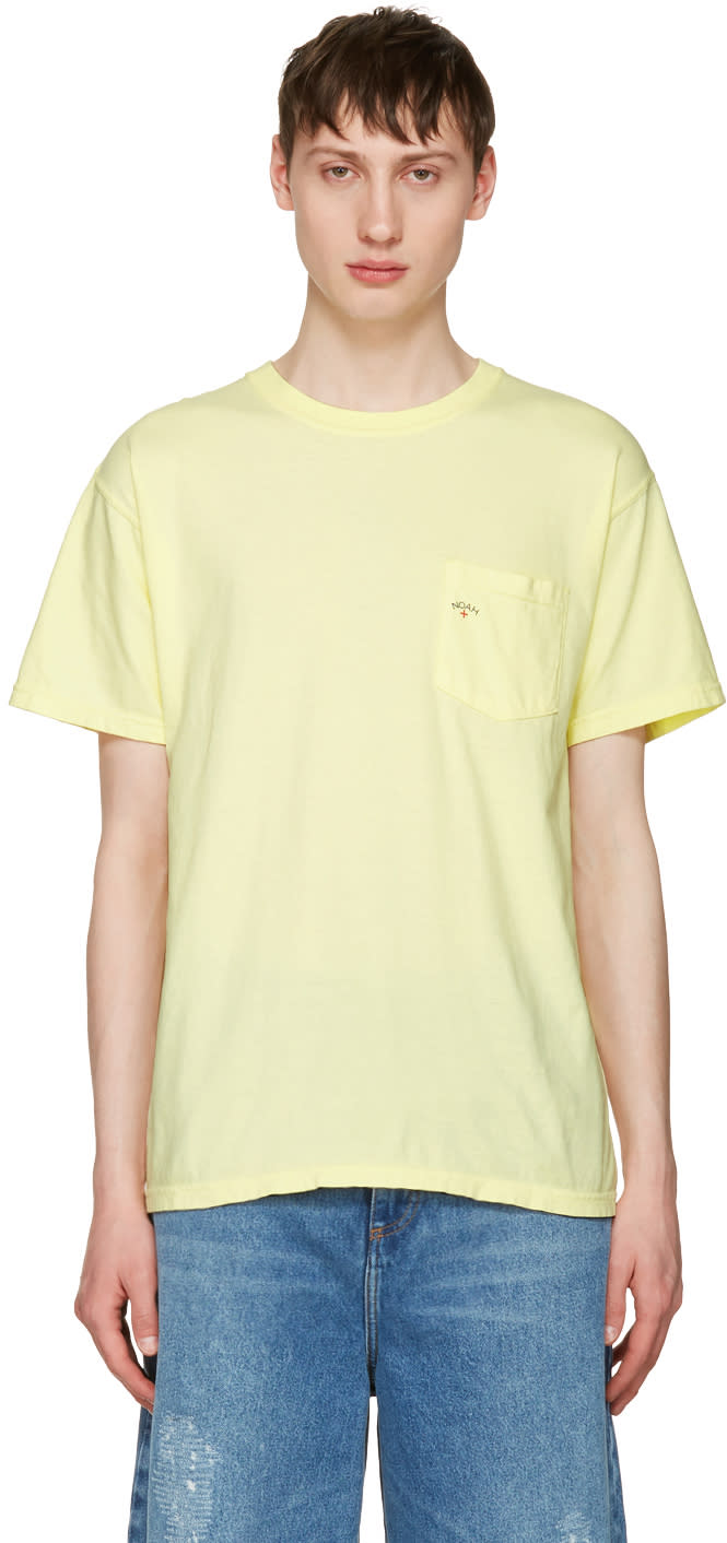 Noah Nyc Yellow Pocket Logo T-shirt