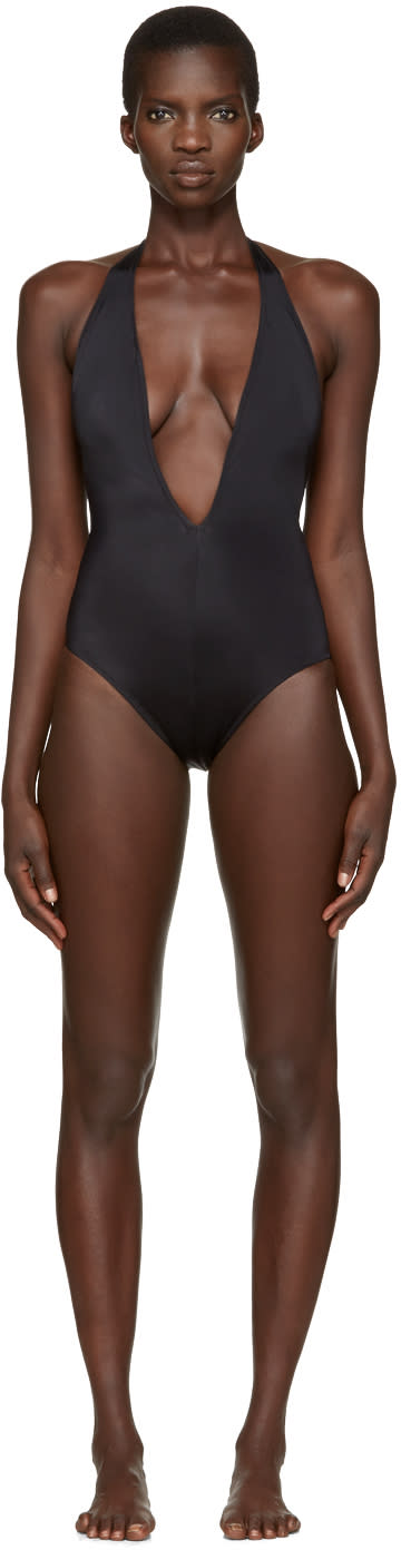 Solid and Striped Black The Willow Swimsuit