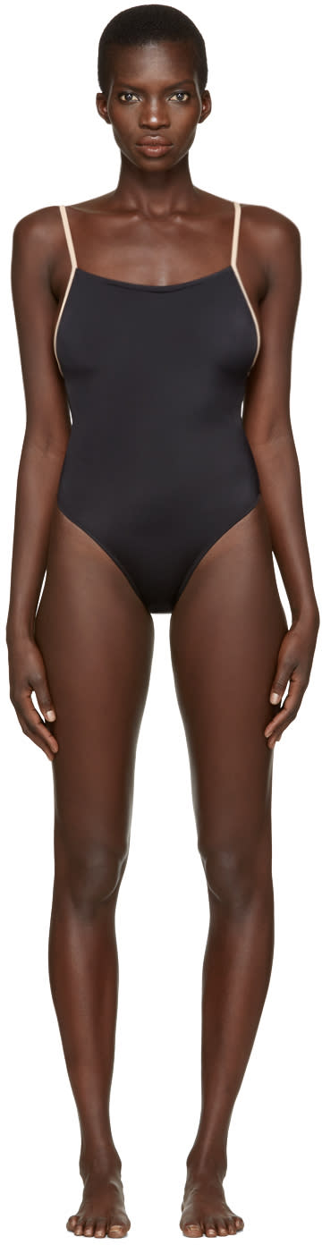 Solid and Striped Black The Chelsea Swimsuit