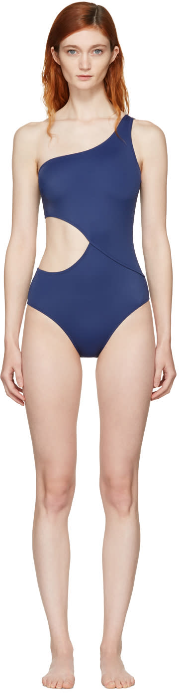 Solid and Striped Navy the Claudia Swimsuit