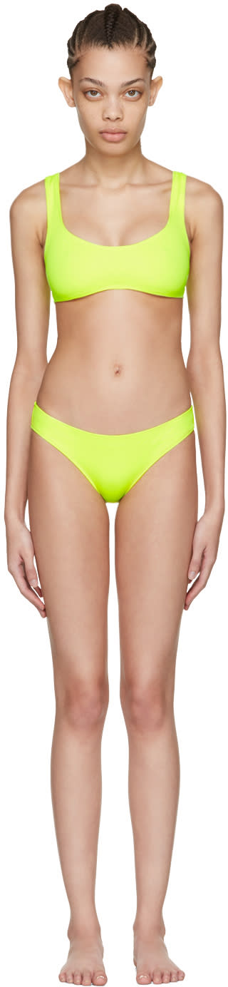 Solid and Striped Yellow the Elle Bikini