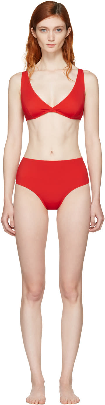 Solid and Striped Red the Beverly Bikini