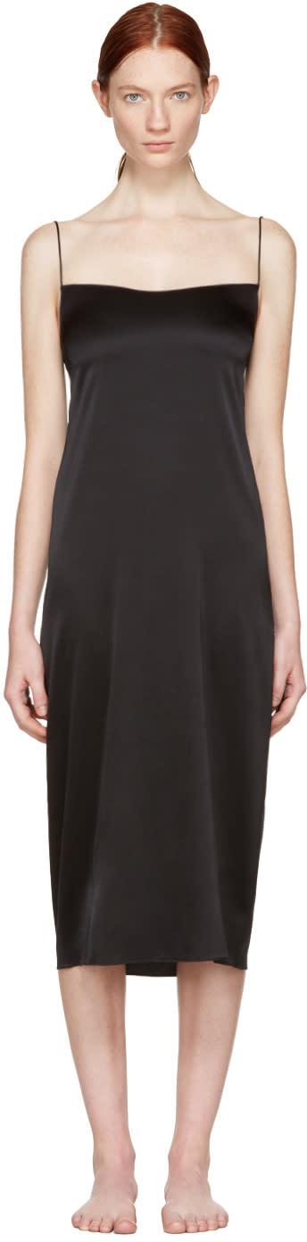 Image of Land Of Women Black Circle Slip Dress