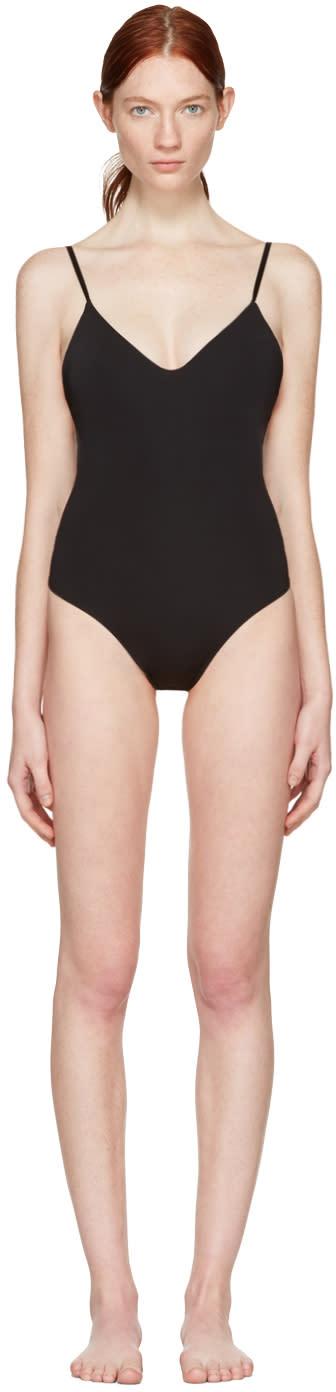Land Of Women Black Low Back Thong Bodysuit
