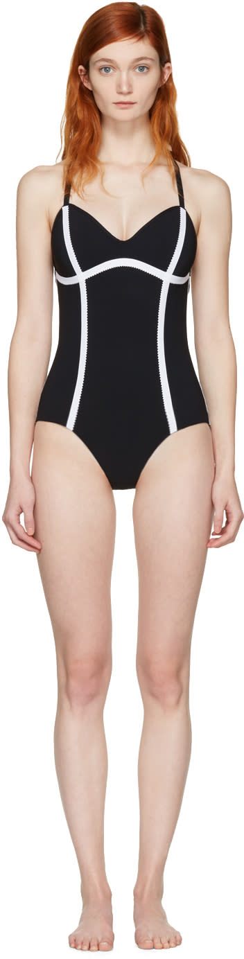 Image of Ward Whillas Black Delrey Swimsuit