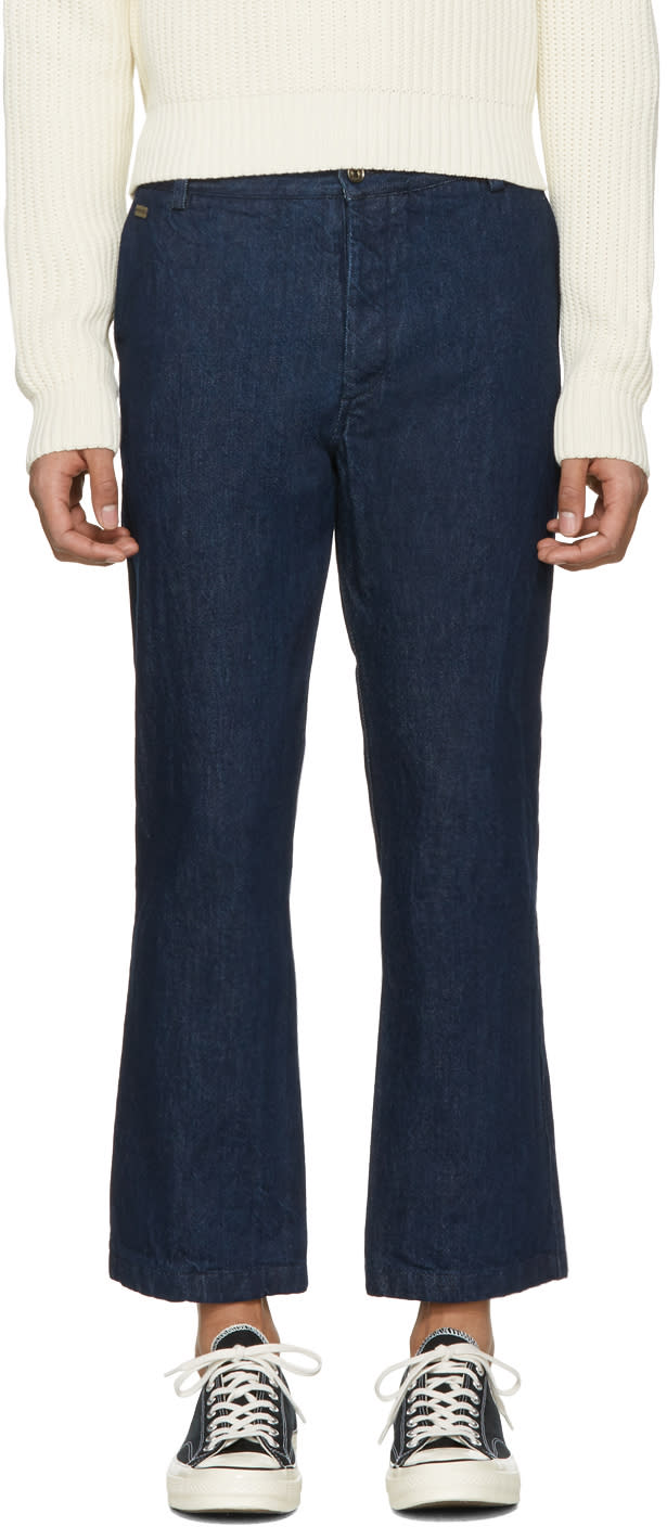Missoni Blue Denim Cropped Trousers