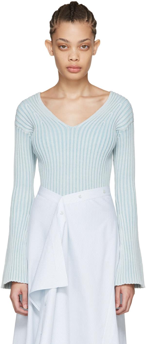 Sies Marjan Blue Ribbed Chloe Sweater
