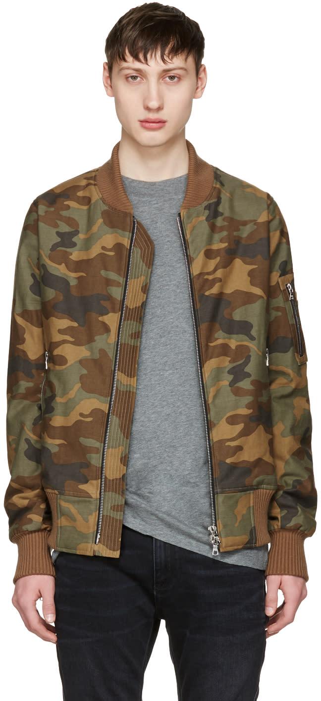 Amiri Tan Camo Bomber Jacket