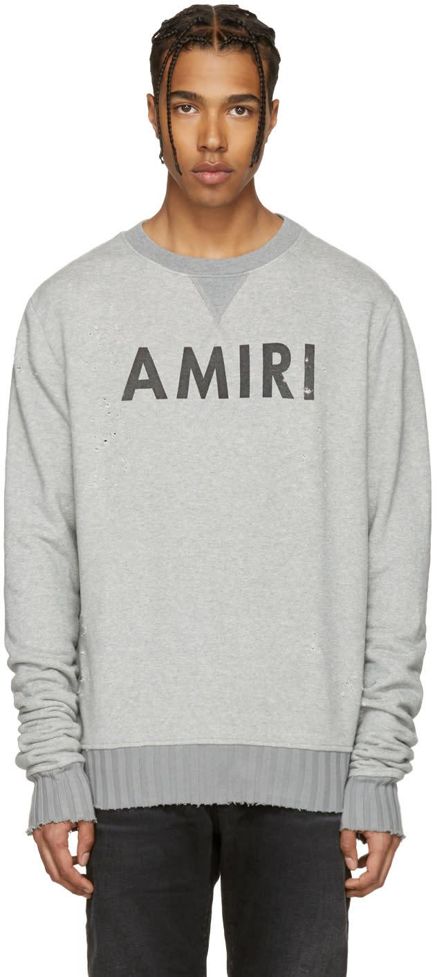 Amiri Grey Logo Sweatshirt