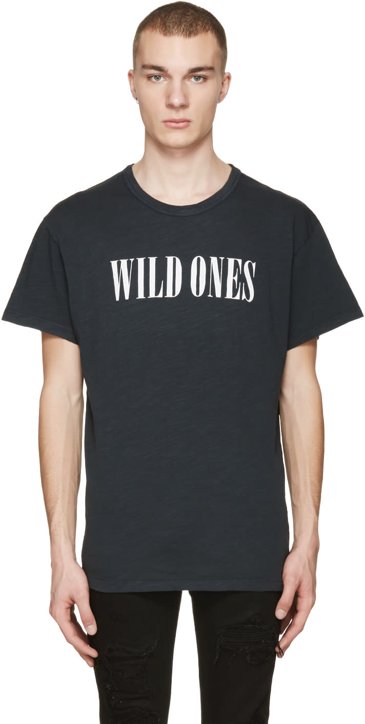 Amiri Black Vintage wild Ones T-shirt