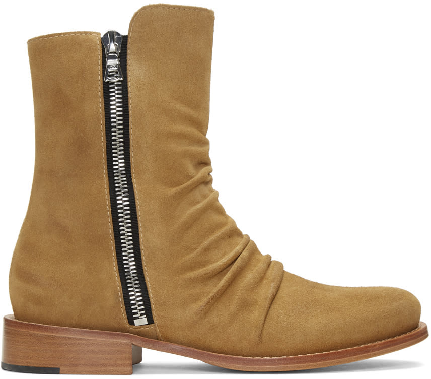 Amiri Tan Stack Boots
