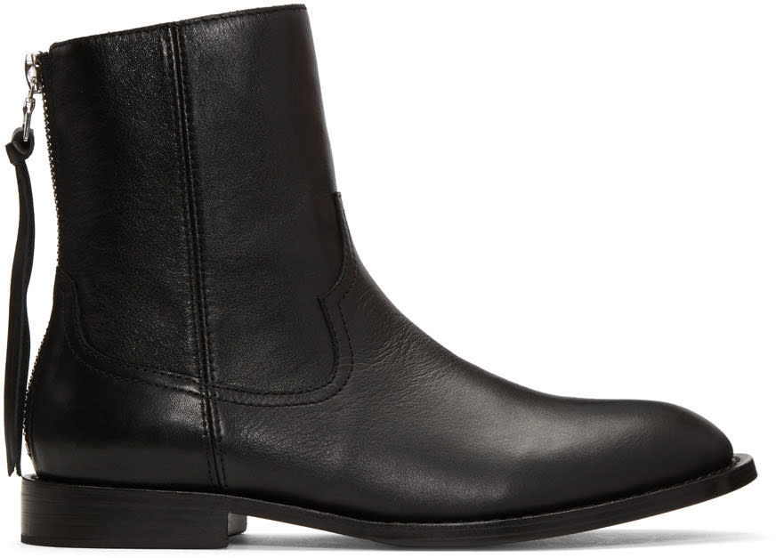 Amiri Black Leather Shane Boots