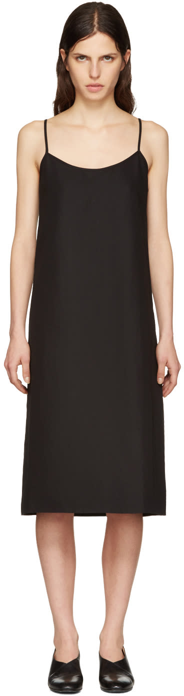Moderne Black Portrait Slip Dress