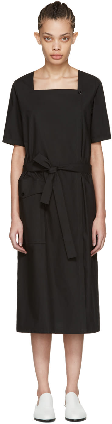 Moderne Black Square Neck Dress