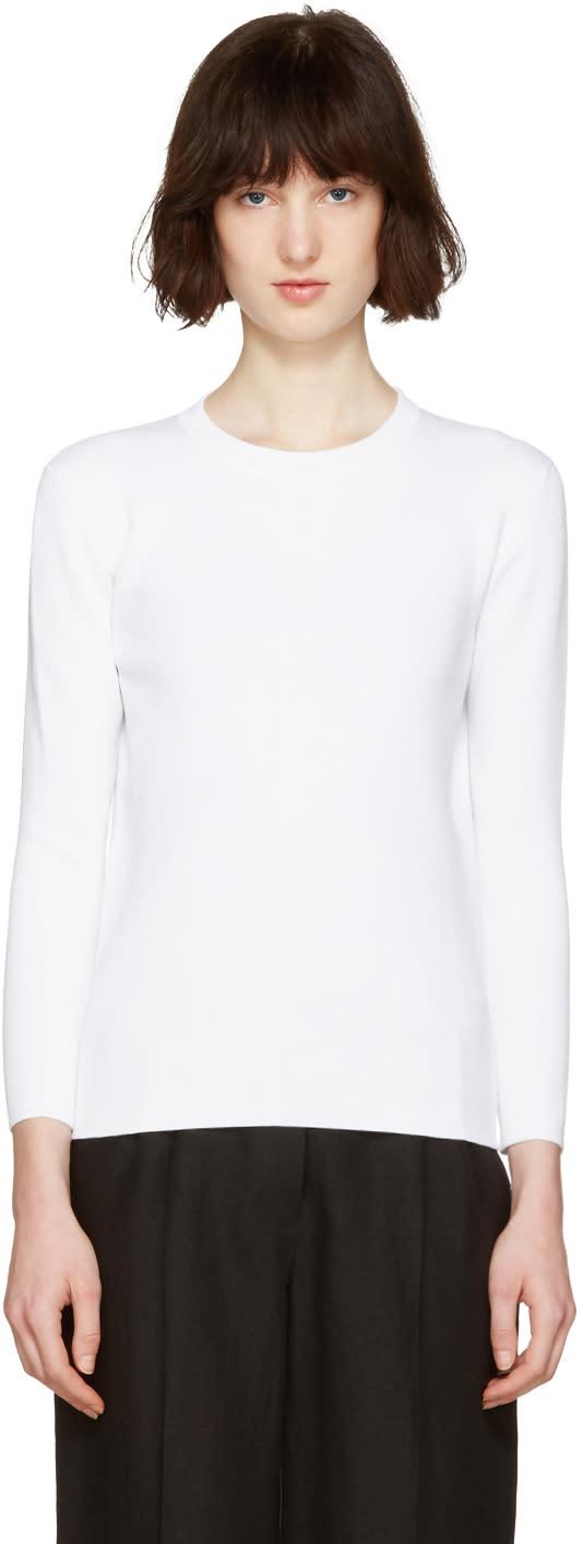 Moderne White Portrait Pullover
